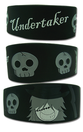 Black Butler Undertaker Pvc Wristband officially licensed Black Butler Wristbands