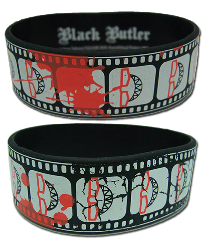 Black Butler Grell Cinematic Record Wristband officially licensed Black Butler Wristbands product at B.A. Toys.