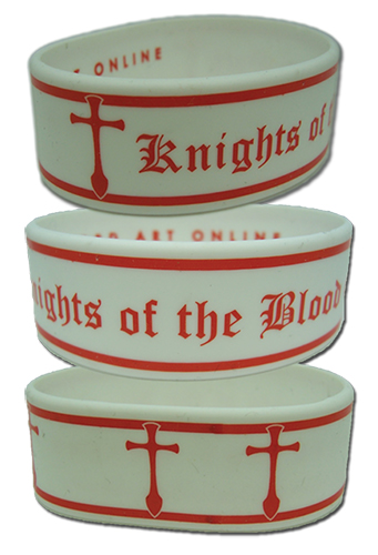 Sword Art Online Knights Of The Blood Oath Pvc Wristband, an officially licensed product in our Sword Art Online Wristbands department.