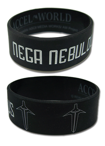 Accel World Nega Nebulous Pvc Wristband officially licensed Accel World Wristbands product at B.A. Toys.