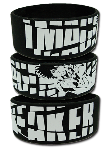 A Certain Magical Index - Imagine Breaker Pvc Wristband, an officially licensed A Certain Magical Index product at B.A. Toys.