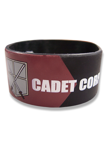 Attack On Titan Cadet Corp Pvc Wristband officially licensed Attack On Titan Wristbands product at B.A. Toys.