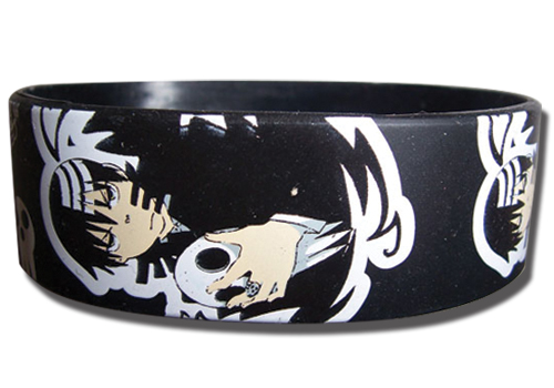 Soul Eater - Death The Kid Pvc Wrsitband, an officially licensed product in our Soul Eater Wristbands department.