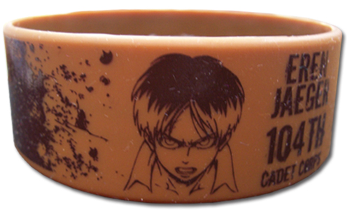 Attack On Titan - Eren Pvc Wristband officially licensed Attack On Titan Wristbands product at B.A. Toys.