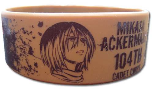 Attack On Titan - Mikasa Pvc Wristband officially licensed Attack On Titan Wristbands product at B.A. Toys.