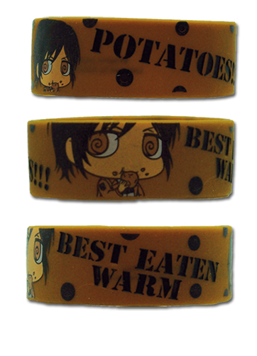 Attack On Titan Sd Sasha Potato Pvc Wristband, an officially licensed product in our Attack On Titan Wristbands department.