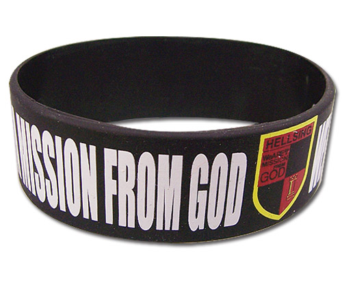 Hellsing Ultimate - Hellsing Organization Slogan Pvc Wristband, an officially licensed product in our Hellsing Wristbands department.