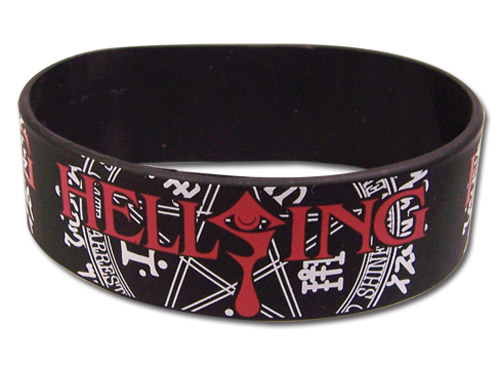 Hellsing Ultimate - Logo Pvc Wristband, an officially licensed product in our Hellsing Wristbands department.