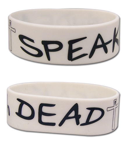 Hellsing Ultimate - Speak With The Dead Pvc Wristband, an officially licensed product in our Hellsing Wristbands department.