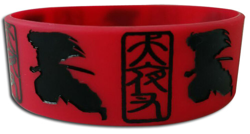 Inuyasha - Inuyasha Silhouette Pvc Wristband, an officially licensed product in our Inuyahsa Wristbands department.