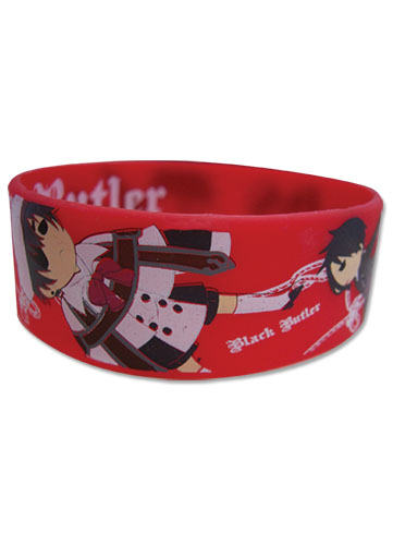 Black Butler - Sd Goup Flying Pvc Wristband officially licensed Black Butler Wristbands product at B.A. Toys.