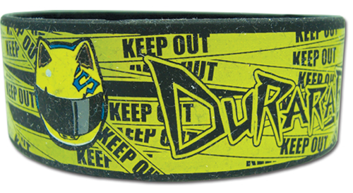 Durarara - Celty Helmet Keep Out Pvc Wristband officially licensed Durarara!! Wristbands product at B.A. Toys.