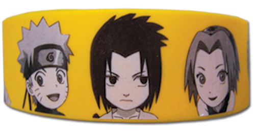 Naruto Shippuden - Sd Group Pvc Wristband officially licensed Naruto Shippuden Wristbands product at B.A. Toys.