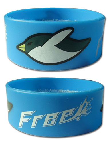 Free! - Penguin Pvc Wristband, an officially licensed product in our Free! Wristbands department.