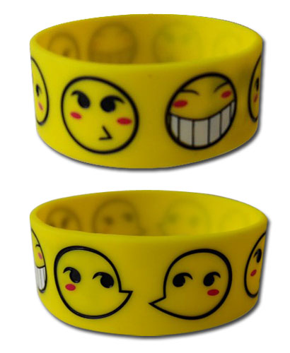 Cowboy Bebop - Ed Smiley Pvc Wristband, an officially licensed product in our Cowboy Bebop Wristbands department.