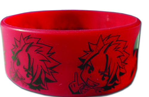 Fairy Tail - Natsu Sd Pvc Wristband officially licensed Fairy Tail Wristbands product at B.A. Toys.