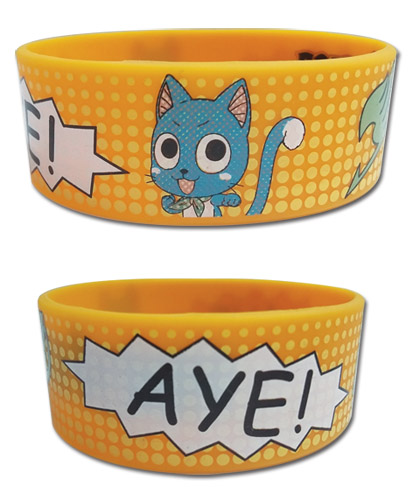 Fairy Tail - Comic Book Happy Pvc Wristband, an officially licensed product in our Fairy Tail Wristbands department.