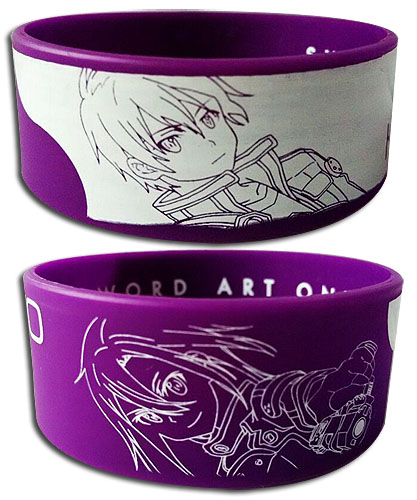 Sword Art Online Ii - Kirito + Kirito Pvc Wristband officially licensed Sword Art Online Wristbands product at B.A. Toys.
