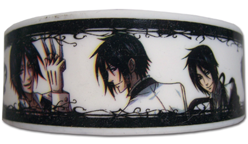 Black Butler - 4 Sebastian Pvc Wristband, an officially licensed product in our Black Butler Wristbands department.