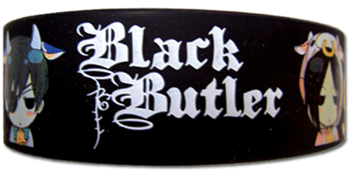 Black Butler - Sebastian And Ciel Cow Pvc Wristband officially licensed Black Butler Wristbands product at B.A. Toys.
