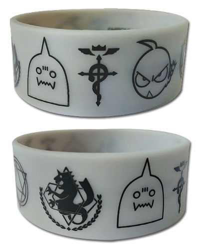 Fullmetal Alchemist - Symbols Pvc Wristband, an officially licensed product in our Fullmetal Alchemist Wristbands department.