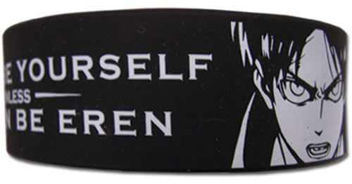 Attack On Titan - Quote Pvc Wristband officially licensed Attack On Titan Wristbands product at B.A. Toys.