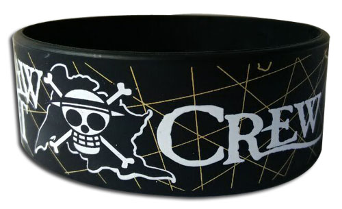 One Piece - Straw Hat Crew Pvc Wristband, an officially licensed product in our One Piece Wristbands department.