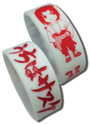 Naruto Shippuden - Sasuke Pvc Wristband, an officially licensed product in our Naruto Shippuden Wristbands department.