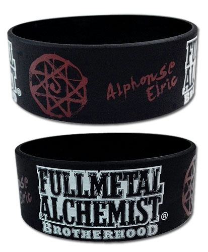 Fullmetal Alchemist Brotherhood - Alphonse Elric Pvc Wristband, an officially licensed product in our Fullmetal Alchemist Wristbands department.