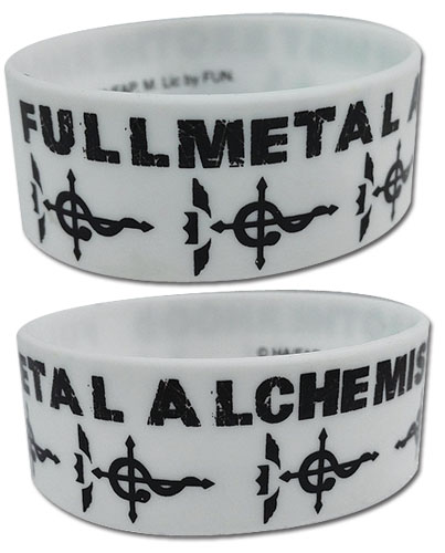 Fullmetal Alchemist Brotherhood - Flamel'S Cross Pvc Wristband officially licensed Fullmetal Alchemist Wristbands product at B.A. Toys.