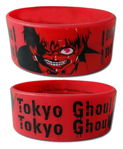 Tokyo Ghoul - Kaneki Pvc Wristband officially licensed Tokyo Ghoul Wristbands product at B.A. Toys.