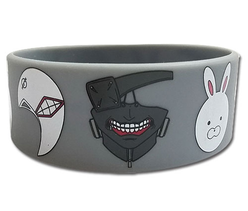 Tokyo Ghoul - Ghoul Masks Pvc Wristband officially licensed Tokyo Ghoul Wristbands product at B.A. Toys.