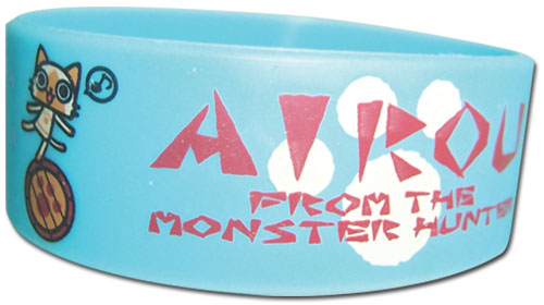 Airou From The Monster Hunter - Group Pvc Wristband, an officially licensed Airou From The Monster Hunter product at B.A. Toys.