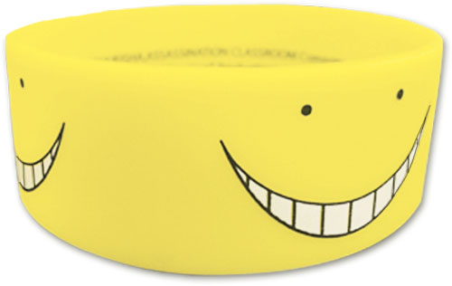 Assassination Classroom - Yellow Koro Sensei Pvc Wristband, an officially licensed product in our Assassination Classroom Wristbands department.