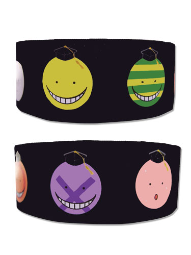 Assassination Classroom - Koro Sensei Faces Pvc Wristband officially licensed Assassination Classroom Wristbands product at B.A. Toys.