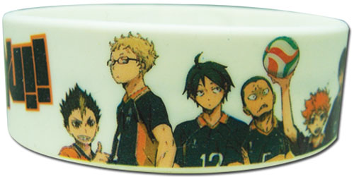 Haikyu!! - Full Group Pvc Wristband, an officially licensed product in our Haikyu!! Wristbands department.