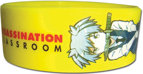 Assassination Classroom - Nagasi Pvc Wristband, an officially licensed product in our Assassination Classroom Wristbands department.