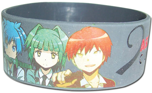 Assassination Classroom - Nagasi & Friends Pvc Wristband, an officially licensed product in our Assassination Classroom Wristbands department.