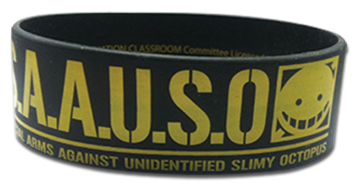 Assassination Classroom - S.A.A.U.S.O. 2 Pvc Wristband, an officially licensed product in our Assassination Classroom Wristbands department.