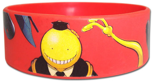Assassination Classroom - Korosensei And Weapons Pvc Wristband, an officially licensed product in our Assassination Classroom Wristbands department.