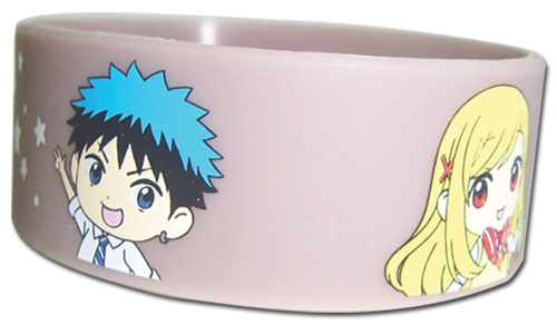 Yamada Kun - Ryu & Urara Pvc Writband, an officially licensed product in our Yamada-Kun And The Seven Witches Wristbands department.