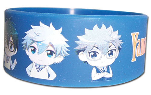 Yamada Kun - Male Sd Group Pvc Wristband, an officially licensed product in our Yamada-Kun And The Seven Witches Wristbands department.