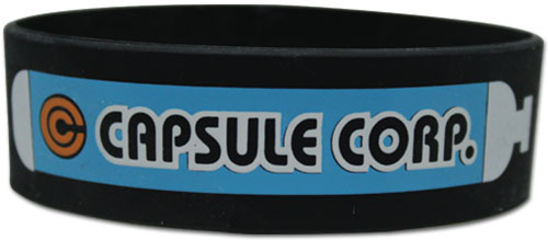 Dragon Ball Z - Capsule Corp. Pvc Wristband, an officially licensed product in our Dragon Ball Z Wristbands department.