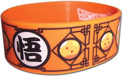 Dragon Ball Z - Dragon Balls & Go Symbol Pvc Wristband officially licensed Dragon Ball Z Wristbands product at B.A. Toys.