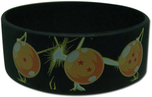 Dragon Ball Z - 7 Dragon Balls Pvc Wristband officially licensed Dragon Ball Z Wristbands product at B.A. Toys.
