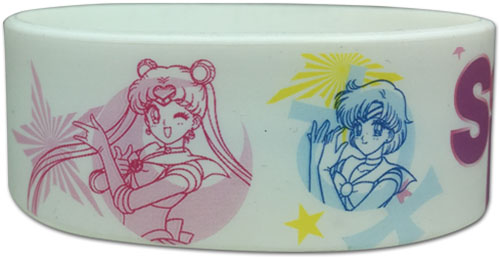 Sailor Moon R - Group & Symbols Pvc Wristband officially licensed Sailor Moon Wristbands product at B.A. Toys.