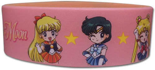 Sailor Moon R - Sd Group Pvc Wristband officially licensed Sailor Moon Wristbands product at B.A. Toys.