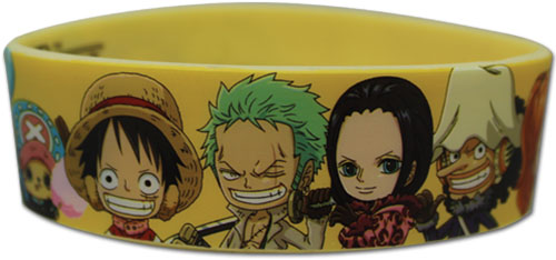 One Piece - Sd Punk Hazard Group Pvc Wristband, an officially licensed product in our One Piece Wristbands department.