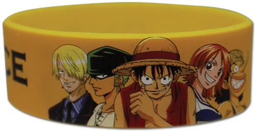 One Piece - Straw Hat Crew Pvc Wristband officially licensed One Piece Wristbands product at B.A. Toys.