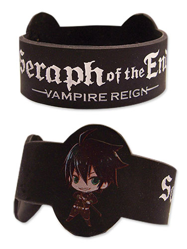 Seraph Of The End - Sd Yuichiro & Mikaela Pvc Wristband, an officially licensed product in our Seraph Of The End Wristbands department.